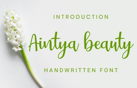 Aintya Beauty Font free download