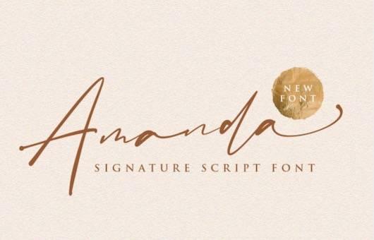 Amanda Font free download
