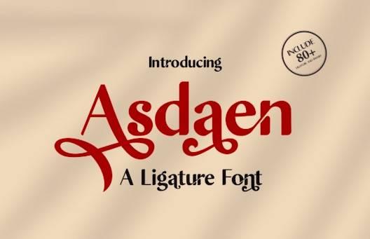 Asdaen Font free download