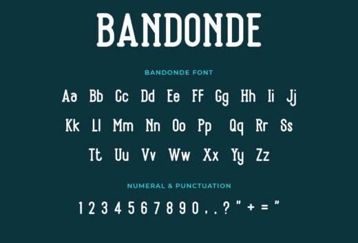 Bandonde Serif Font free