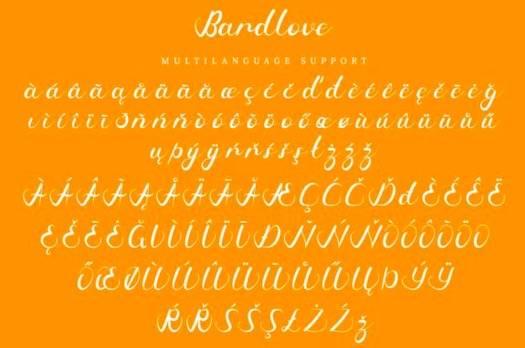 Bardlove Font free