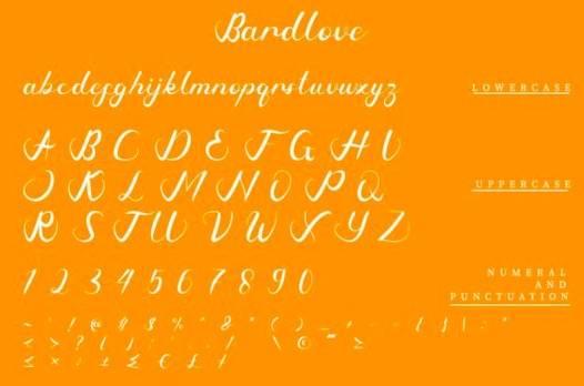 Bardlove Font download