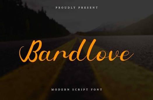 Bardlove Font free download