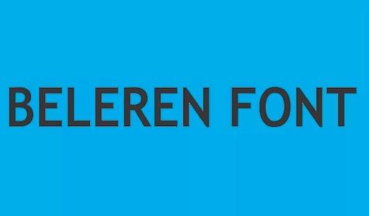 Beleren Font FREE