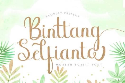 Binttang Selfianto Font free download