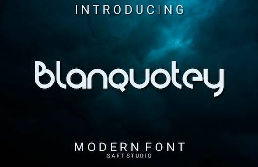 Blanquotey Font free download