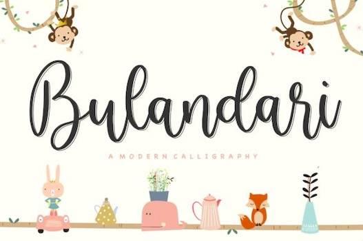 Bulandari Font free download