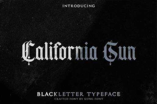 California Sun Typeface free download