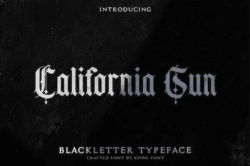 California Sun Typeface free download
