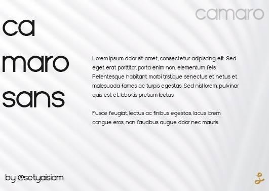 Camaro Font download