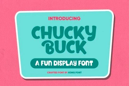 Chucky Buck Font download