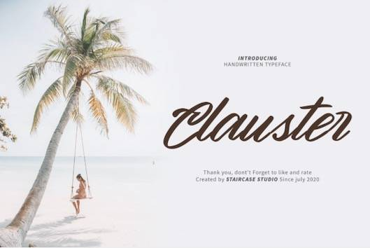 Clauster Font download free
