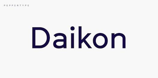 Daikon Font free download