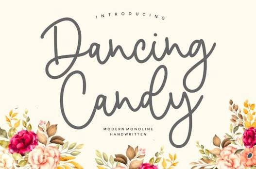 Dancing Candy Font