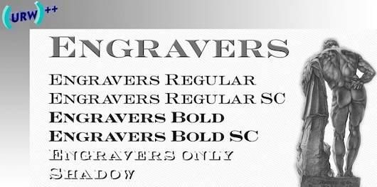 Engravers Old English Font