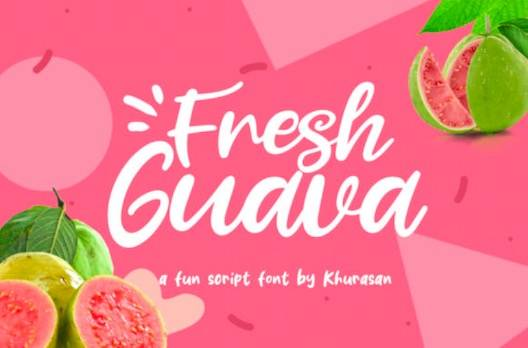 Fresh Guava Font free download