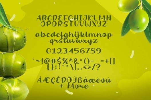 Fresh Olive Font