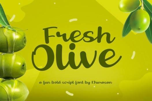 Fresh Olive Font free download