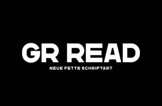 GR Read bold Font