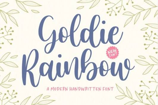 Goldie Rainbow Font free download