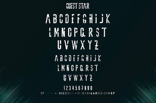 Guest Star Font Duo free