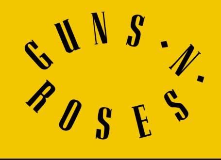 Guns and Roses Logo Font