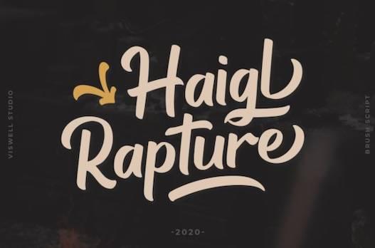 Haigl Rapture Font free