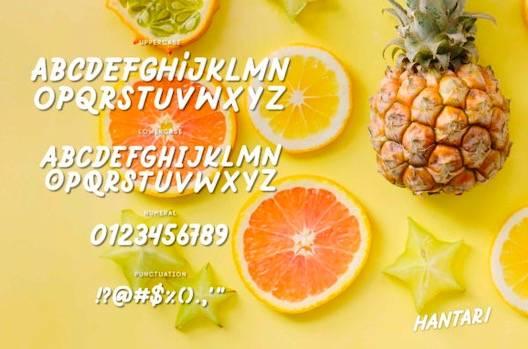 Hantari Font free