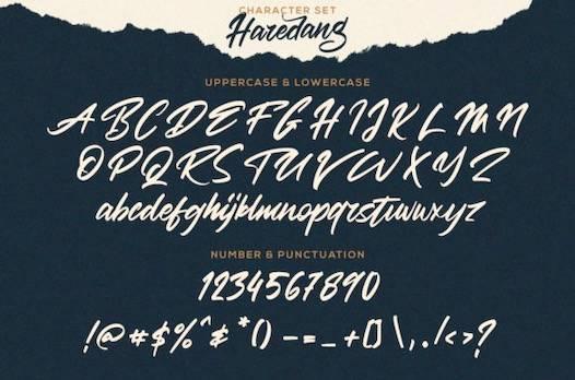 Haredang Font free