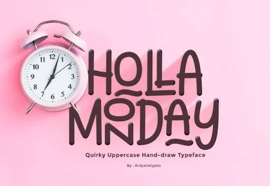 Holla Monday Font free download