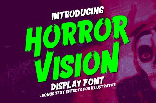 Horror Vision Font free download