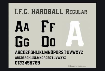 IFC Hardball Font download