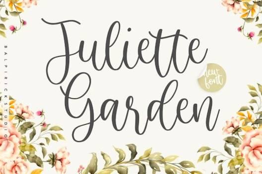 Juliette Garden Font