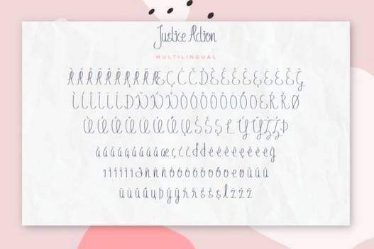 Justice Action Font Duo free