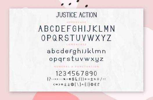Justice Action Font Duo