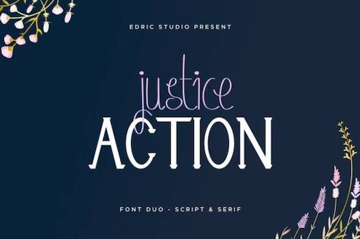Justice Action Font Duo free download