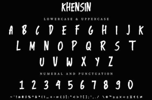 Khensin Font free