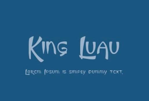 free King Luau Font