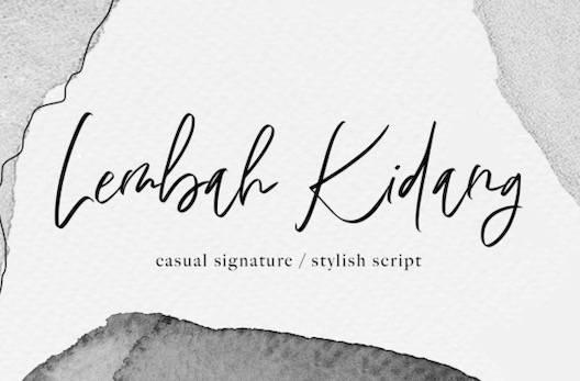 Lembah Kidang Font free download