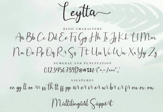 Leytta Font free