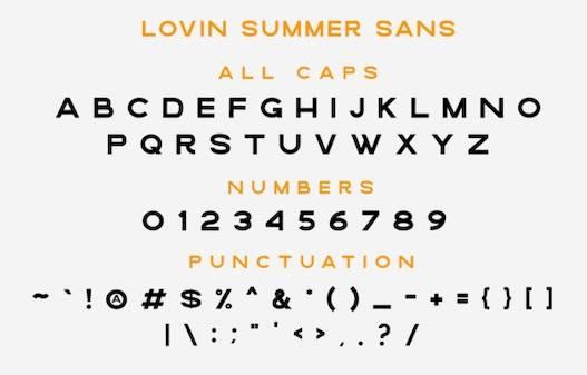 Lovin Summer Font Duo