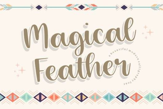 Magical Feather Font free download