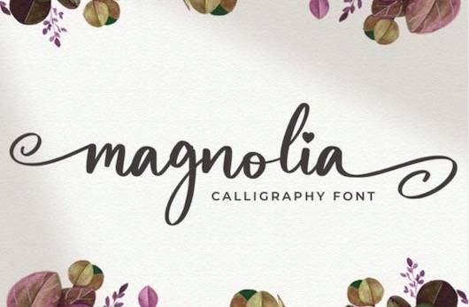 Magnolia Font download