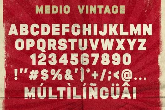 Medio Font free