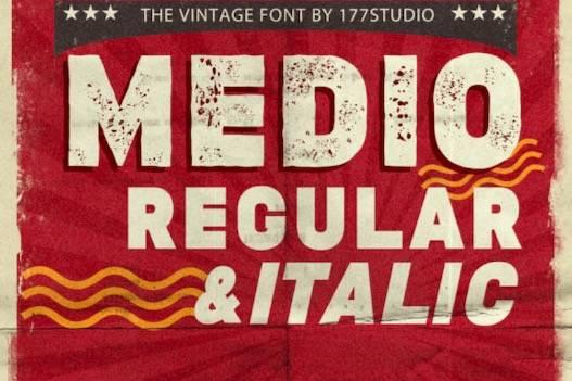 Medio Font free download