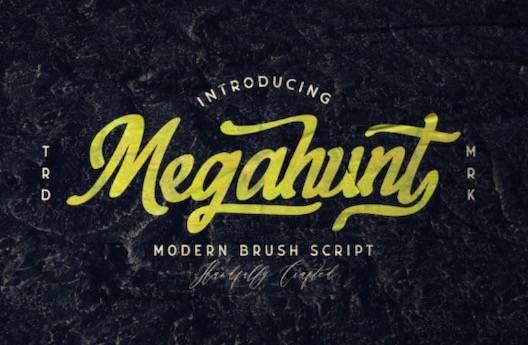 Megahunt Font free download