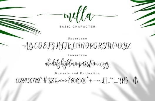Mella typeface free