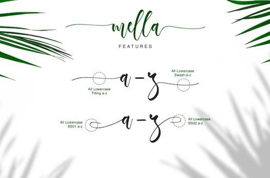Mella typeface