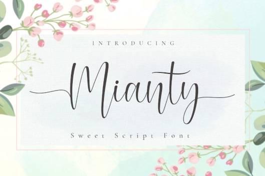 Mianty Font free download