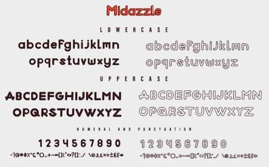 Midazzle Font